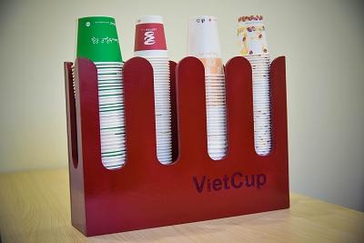Giá để ly giấy gỗ cao cấp VietCub