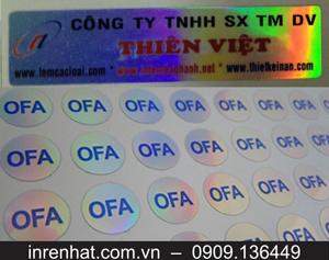 In Tem 7 Màu Giá Rẻ TP HCM