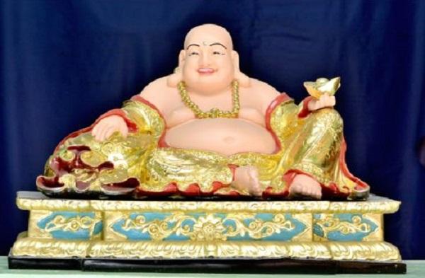 Tượng Phật Di Lặc Tam Tài xi vẽ
