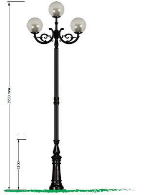 Đế gang Fumagalli lắp chùm đèn CH04