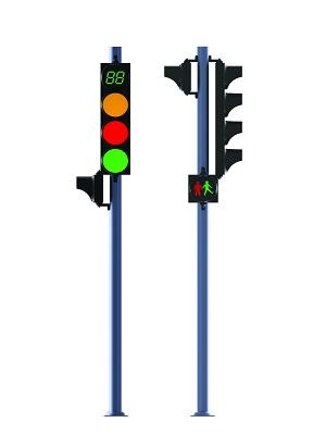 Trụ đèn tín hiệu giao thông đơn