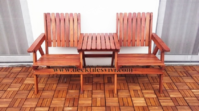 Ghế đôi liền bàn