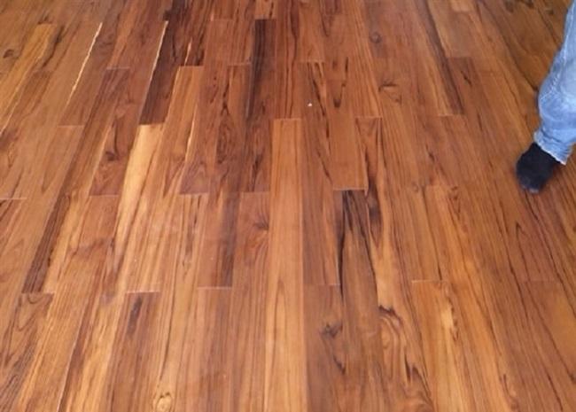 Sàn gỗ nội thất màu Teak