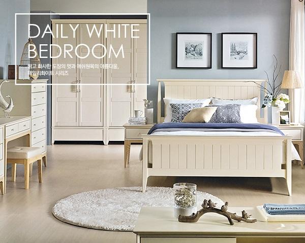 Dịch vụ thiết kế thi công nội thất phòng ngủ Daily White