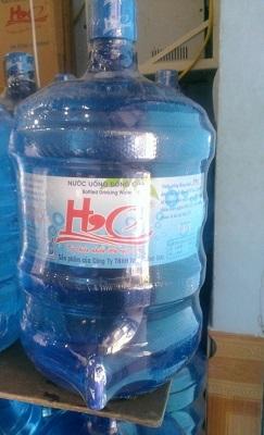Nước uống đóng bình úp máy có vòi 19L