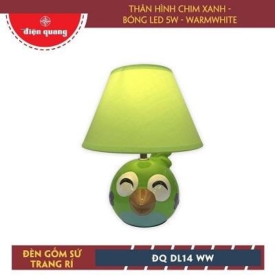 Đèn gốm sứ trang trí Điện Quang ĐQ DL14 WW