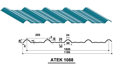 Tấm lợp Austnam ATEK 1088