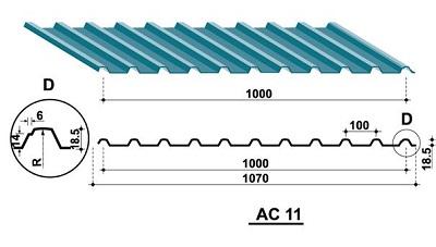 Tấm lợp liên kết vít AC-11