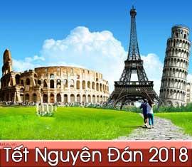 Tour châu Âu: Pháp - Thụy Sỹ - Italia