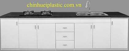 Tủ bếp nhựa PVC