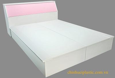 Giường nhựa đôi PVC