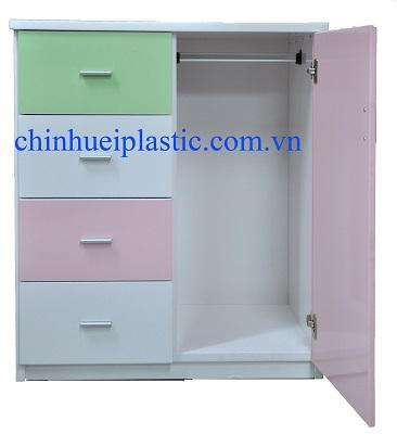 Tủ quần áo trẻ em bằng nhựa PVC