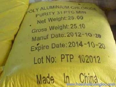 Hóa chất Poly Aluminium Cloride 31%