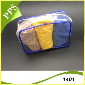 Túi PVC hộp có khoá kéo 1401