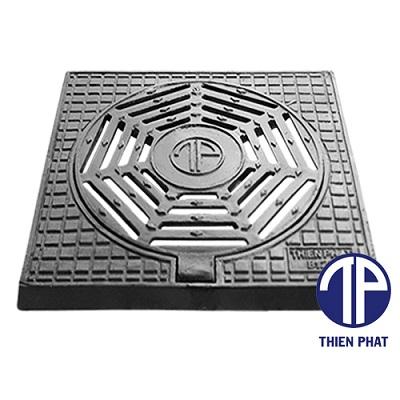 Bộ khung vuông dương nắp tròn TP-KVDNT-01