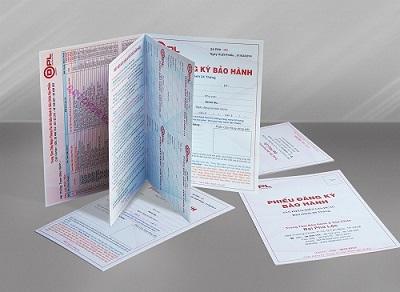 Thiết kế và in ấn thẻ bảo hành