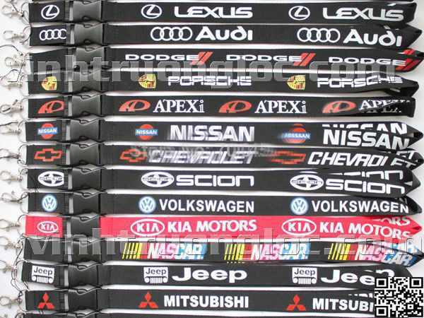 Dây đeo thẻ in logo xe