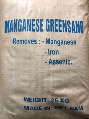 Hạt lọc Mangan greensand