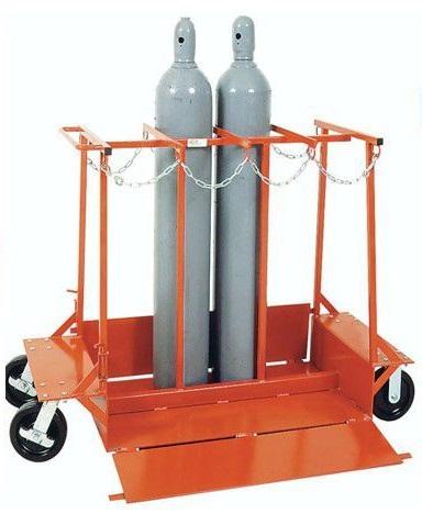 Pallet xe đẩy khung vách để bình khí và lỏng