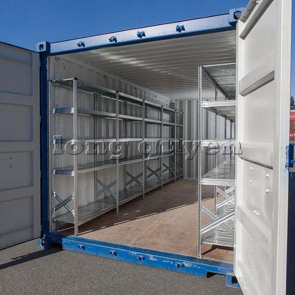 Giá kệ để hàng trong Container