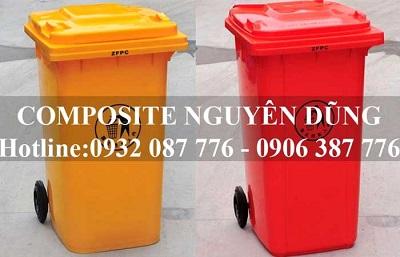 Thùng rác nhựa HDPE 240 lít
