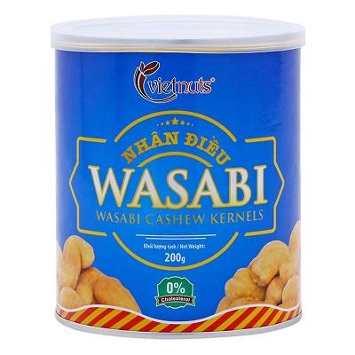 Nhân điều Wasabi Vietnuts hộp 200g
