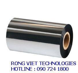 Ribbon in mã vạch wax resin RV12