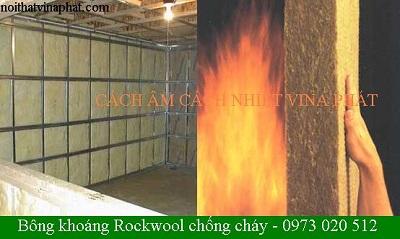 Bông khoáng Rockwool chống cháy