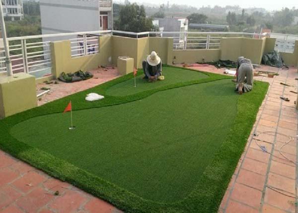 Thi công sân cỏ nhân tạo sân golf