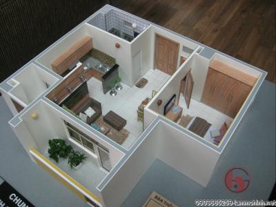 Mô hình nội thất nhà mẫu chung cư TDH Phước Bình