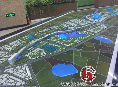 Mô hình kiến trúc dự án Metro Cát Linh - Hà Đông
