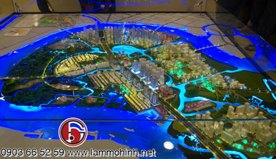 Mô hình kiến trúc quy hoạch KĐT Thủ Thiêm 2015