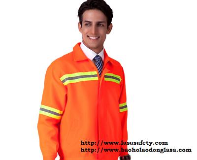 Quần áo bảo hộ pha màu có phản quang