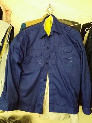 Quần áo bảo hộ màu xanh