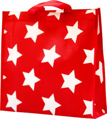Túi Giả Vải Ghép Star Red