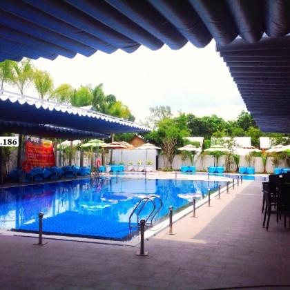Bạt mái xếp di động hồ bơi
