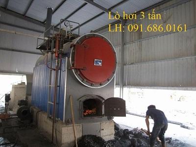 Lò hơi đốt than củi công suất 3 tấn