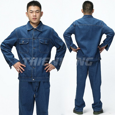 Quần áo bảo hộ vải Jean