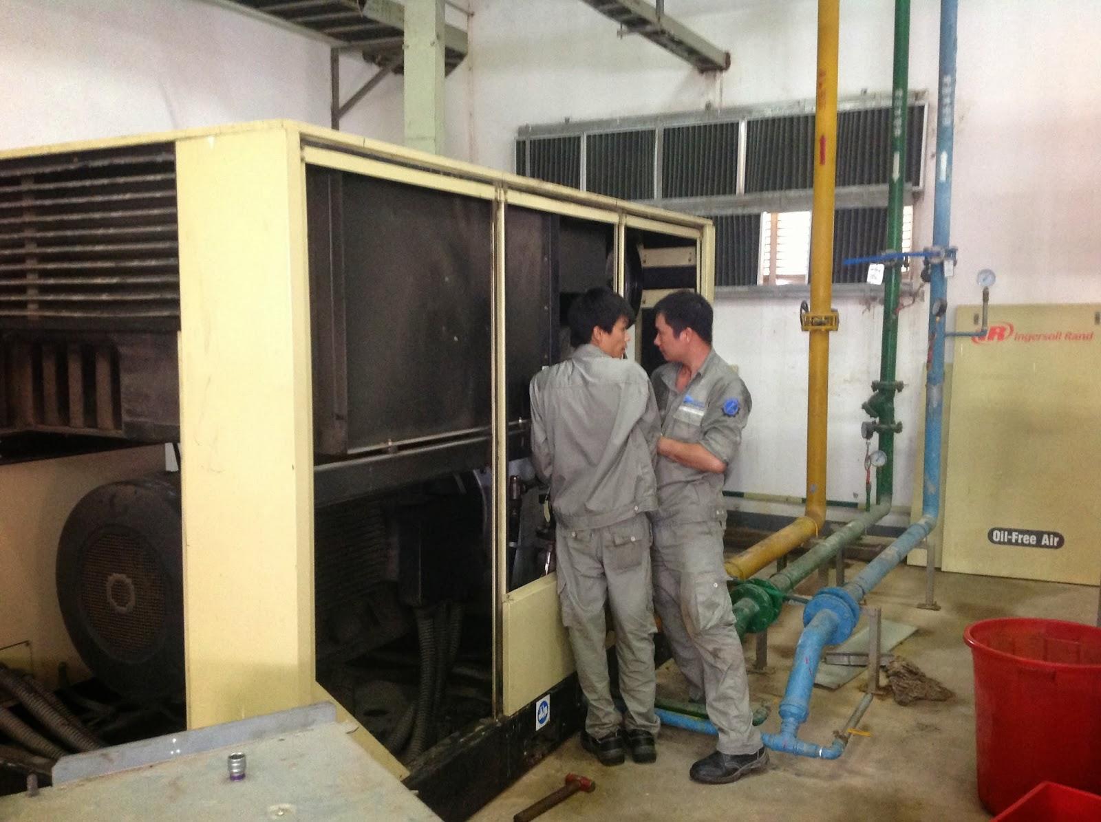 Sửa chữa máy nén khí trục vít, oil free, turbo, piston
