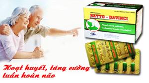 Natto - Davinci: Hoạt Huyết, Tăng Cường Tuần Hoàn Não
