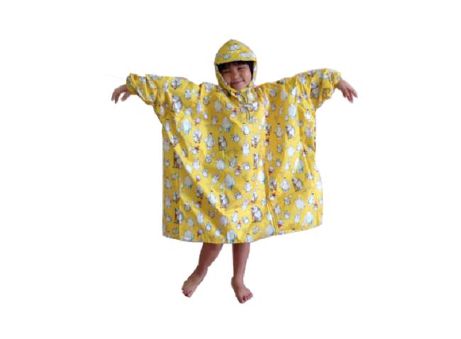 Áo mưa trẻ em vải dù