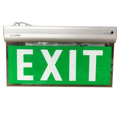 Đèn Exit kính trong Lilang 2 mặt không chỉ hướng XF-BLZD-2LREI 3WB