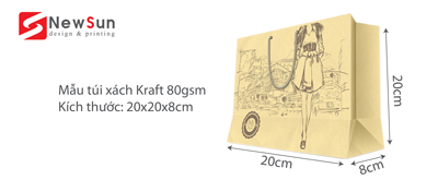 In túi giấy Kraft 80gsm