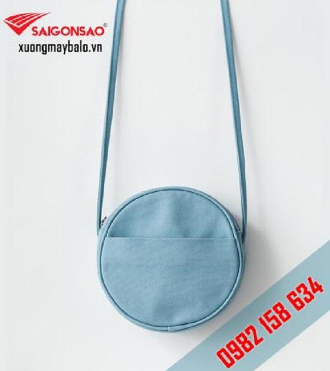Túi vải Canvas tròn