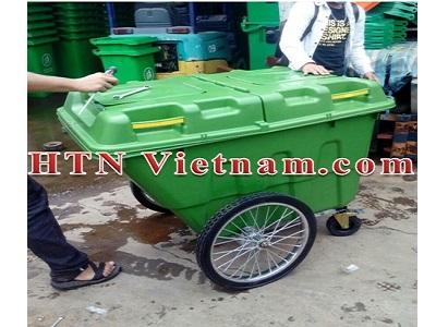 Xe gom rác 400L bằng nhựa HDPE
