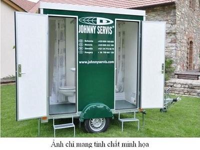Nhà vệ sinh bằng khung thép Alu