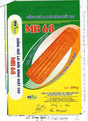 Bao Bì Giống Ngô Lai Đơn MB68
