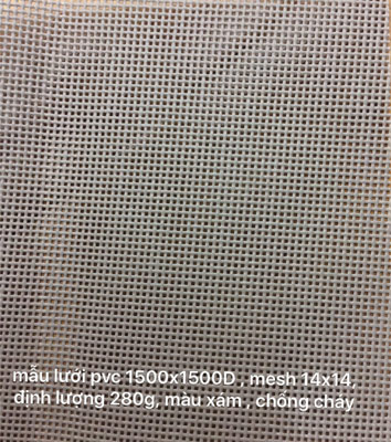 Lưới Chống Cháy Grey PVC Mestarpaulin