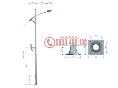 Cột đèn cao áp MB05