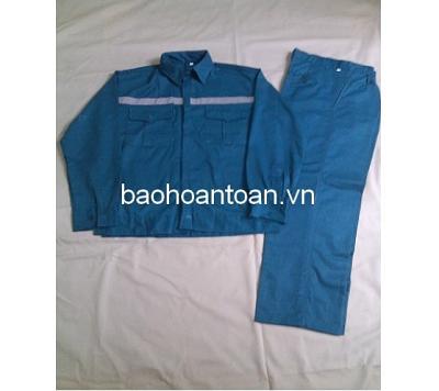 Quần áo bảo hộ xanh Lilama